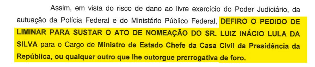 Lula decisão liminar